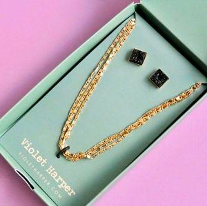 Violet Harper Necklace and Earring Set